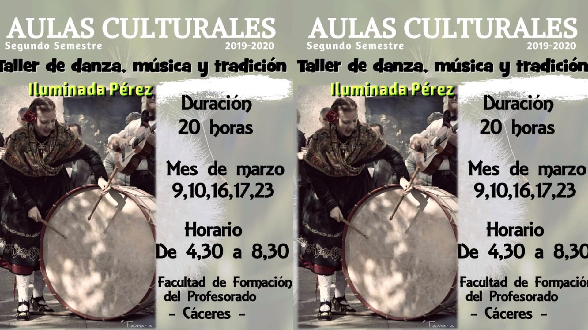 9/3/2021 Taller de música, danza y tradición extremeña en la Facultad de Formación del Profesorado de Cáceres