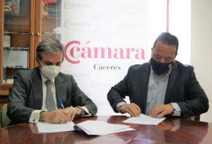 13/4/2021 Cámara de Comercio de Cáceres y Club Universo Extremeño firman un convenio para fortalecer los vínculos con emigrantes de la provincia cacereña